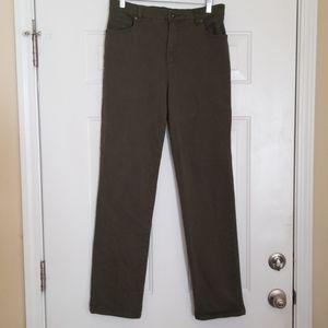 Gloria Vanderbilt Olive Jeans